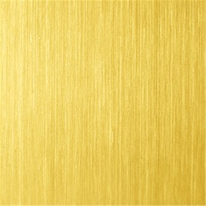 Hairline No.4 Brush Design PVD Golden Bronze Color Coating Waterproof Antirust 1219x2438mm 0.45mm 201 Stainless Steel Sheet for Decorative Wall Panel
