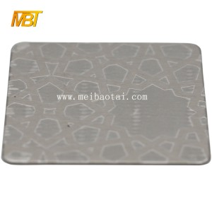 custom high quality emboss mirror color  pvd color coating stainless steel sheet decorative plate