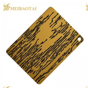 Good Quality Colored Coating Etched Stainless Steel Decorative Sheet