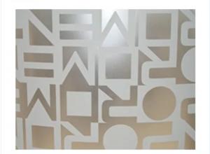Grade 304 Laser Printing Mirror Decroation Stainless Steel Sheet