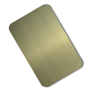 hairline antique green bronze steel sheet