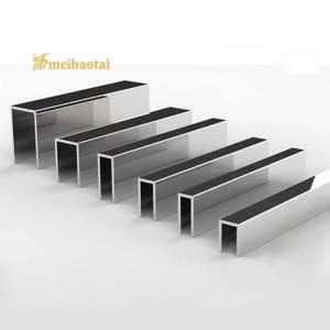 Silver Polishing Decorative SS U Channels Stainless Steel U Tile Trim