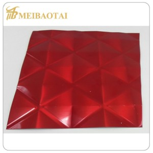 stamp pvd color coating mirror finish stainless steel  sheet   decorate wall plate