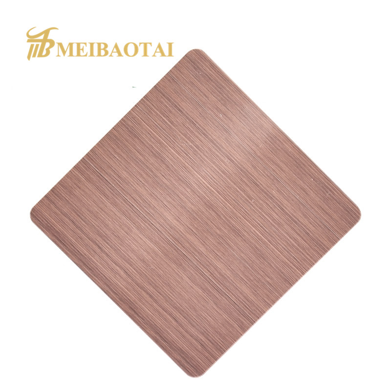 Grade 304  204  hairline pvd color coating stainless steel sheet decorative plate Featured Image