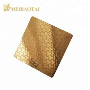 custom elevator etching hairline stainless steel for foshan meibaotai factory