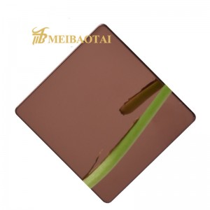 Grade 201 304 Gold/Blue/Purple Mirror Color Coating Stainless Steel Sheet