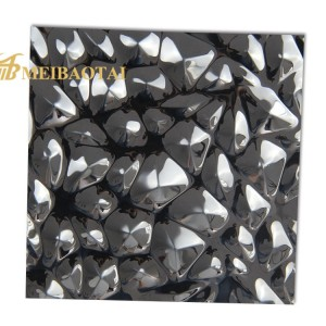 PVD Black Stamped Plate 201 Stainless Steel Plate 3D Panels Decoration Wall Ceiling Plate