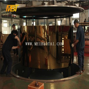 super mirror gold color stainless steel sheet