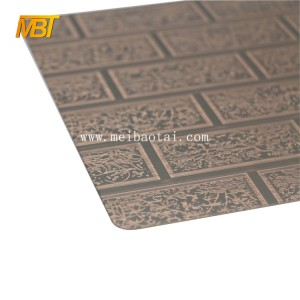 bronze Etching Plate 201 decorative steel sheet for outdoor