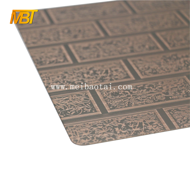 bronze Etching Plate 201 decorative steel sheet for outdoor Featured Image
