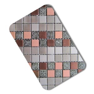 mosaic model embossed stainless steel sheet