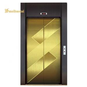 Hairline Mirror Polish Technology Golden Silver Design Elevator Lift Decoration Plate