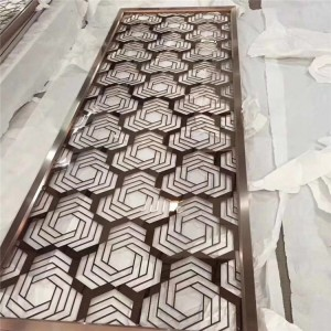 Laser Cutting Stainless Steel Living Room Partition