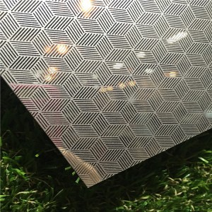 hot sell  3d Embossed Stainless Steel Sheet For Decorative Wall Panel