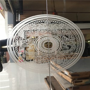 High Quality 304 Grade Stainless Steel Decoration Sheet Etching Mirror Design 0.95mm Thickness Elvator Lift Cabinet Decoration Sheet
