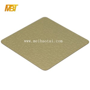 201 304  Golden Color Mirror Emboss Decoration Stainless Steel Sheets