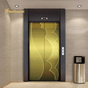 Export to UAE Modern Design PVD Golden Plate Elevator Lift Plate 304 Stainless Steel Plate 1219*2438mm 0.75mm Decorative Plate