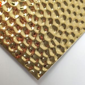 Hot Sale PVD Golden Honeycomb Design Pattern Decorative Plate 201 Stainless Steel Plate for Wall Ceiling Plate