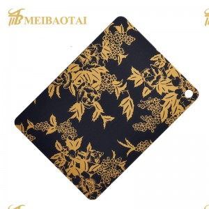 custom pattern etching mirror color stainless  steel sheet decorate elevator and door