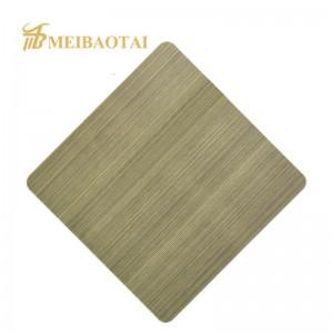 Grade 201 304 Hairline Metal Sheet for Elevator Stainless Steel Sheet
