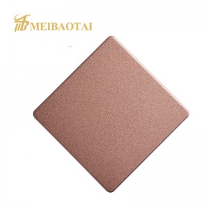 Grade 304 Color Coated Sandblast Stainless Steel Sheet For Decoration