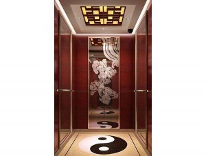 Good Quality Passenger Elevator with Etched Stainless Steel