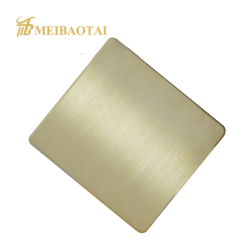 Grade 201 304  hairline stainless steel sheet decorate plate Featured Image
