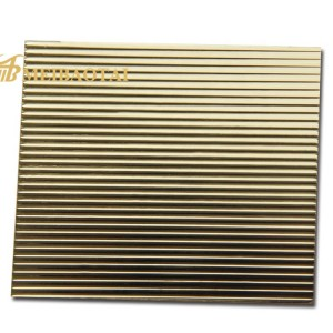 Golden Silver Stamped Plate 1220*2440mm 0.65mm 201 Stainless Steel Plate for Decoration Wall Plate