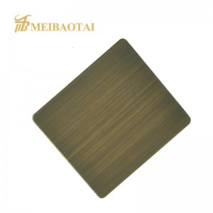 Grade 201 Hairline Stainless Steel Mirror Deocrative Sheet for Elevator Lift