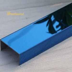 SS U Shape Tile Trim High Precision Tile Trim SS 304 U Profile Trim for Ceramic Tile Finishes