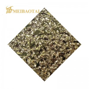 PVD Mirror Color Coating Stamped Finish Decorative Stainless Steel Sheet