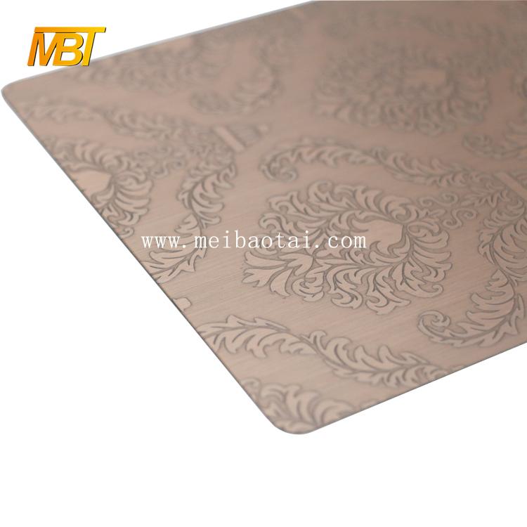 201 bronze hairline metal sheet color steel sheet for european doors Featured Image