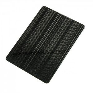 CVD Black Hairline Brush Anti-finger Print Decorative Plate 0.65mm 201 Stainless Steel Plate for Wall Plate