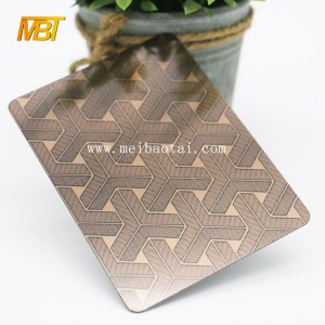 etched pvd color coating stainless steel sheet decoration elevator and lift