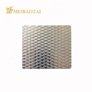 custom size and design  stamp mirror color pvd color  coating stainless steel sheet