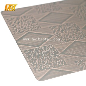 201 bronze hairline metal sheet color steel sheet for european doors