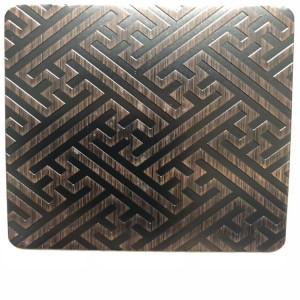 price of 1kg bronze black bronze etched steel sheet