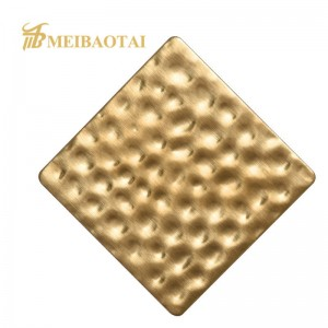 Emboss Finish Decorative Stainless Steel Sheet 201 304 Color Stainless Steel Sheet