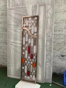 Metallic Coating Stainless Steel Screen for Interior Decoration Room Divider