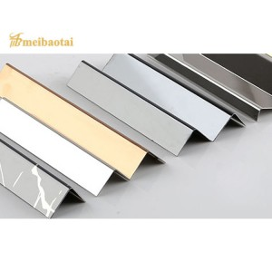 PVD Golden Black Color Coating SS Metal L Profiles Stainless Steel L Tile Trims for Wall Corner Decoration