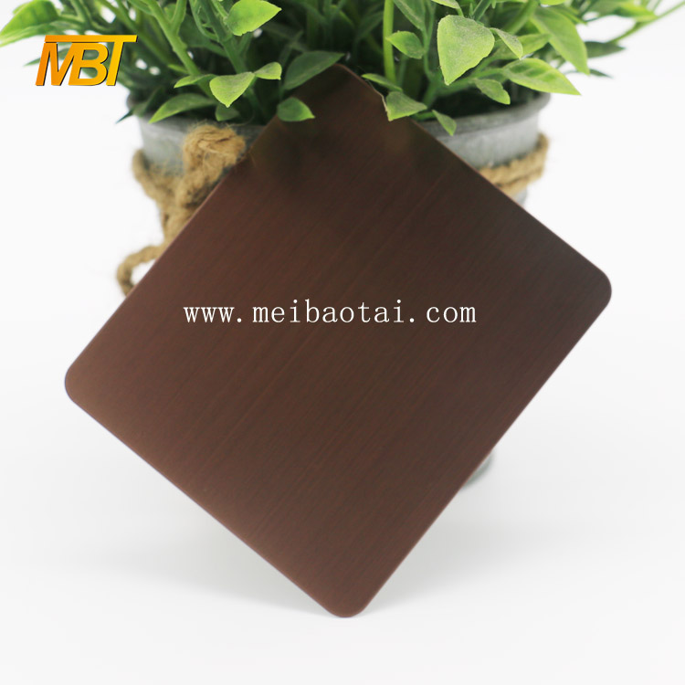 Bronze Colored Etched Stainless Steel sheet Featured Image