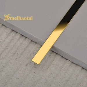 Stainless Steel Divider Trim Polishing Surface PVD Golden Balck Rose Color Coating Stainless Steel T Trim