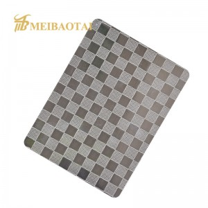Emboss Finish Decorative Stainless Steel Sheet 3D Wall Panel 201 304 Color Stainless Steel Sheet