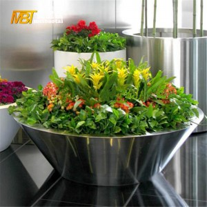 metal fabrication stainless steel flower pot