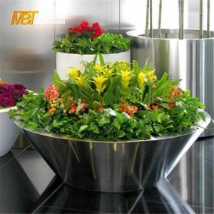 metal fabrication stainless steel flower pot