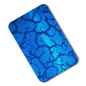 201 etched blue sliver coated stainless steel sheet