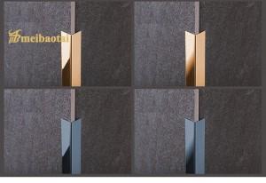 PVD Blue Rose Black Polish Matt Finish Design SS Metal L Profiles Stainless Steel L Shape for Wall Corner Decoration