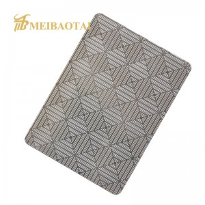 Interior Decoration Color Grade 201 304 Embossed Stainless Steel Sheet