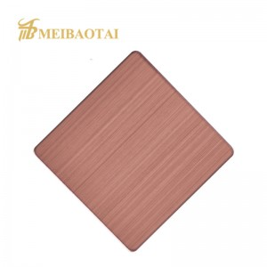 hairline pvd color coating stainless steel sheet decorative plate factory price