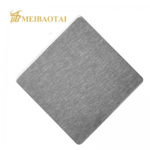304 Color Coated Stainless Steel Sheet Vibration Finish for Interior Wall Panel Decoration Material